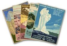 SET OF FIVE - US NATIONAL PARKS 1930 Vintage Reprint Travel Print Posters 18X24