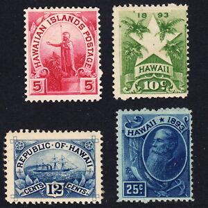 1894 Hawaii #76-79 MINT H   lot
