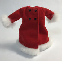 Barbie Holiday Sisters Stacie Red Velvet White Fur Coat Petticoat Jacket