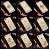 Diamonds Soft Phone Cases with 2 Glass Screen Protector films and long lanyard C