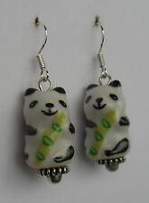 Bamboo bamboo yum! earrings panda pandas bear oriental funky Japanese kawaii