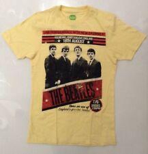Los Beatles para hombre Hulme Hall Amarillo T-Shirt Small