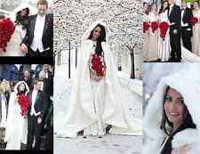 Warm Bridal Cape ivory White Winter Fur Coat Women Wedding Bolero Bridal Cloaks