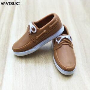 Brown Fashion Doll Shoes Casual Shoes For Ken Men Shoes For Boyfriend Ken 1:6