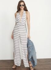 ca5275257ac Faithfull the Brand Women s 4 Black White Amsterdam Stripe Print Cannes  Jumpsuit