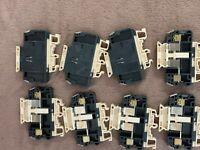 Fuse terminal blocks ENTRELEC Fuse 6,3A max lot of 8 Used