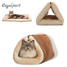 For Pet Dog Cat House Puppy Soft Nest Super Soft Mat Pad Warm Cave Sleeping Bed