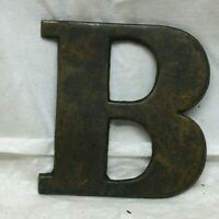 Vintage Solid Cast Brass Letter B Appliqué Almost 3""