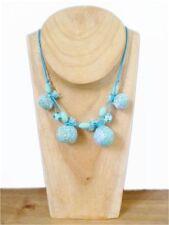 Handmade Fabric Statement Costume Necklaces & Pendants