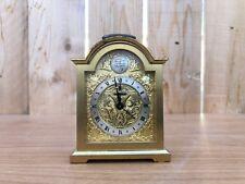 Vintage Tempus Fugit Swiza Swiss Brass Carriage Desk Mantle Alarm Clock