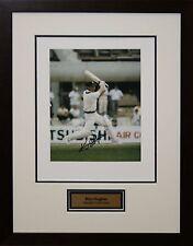Australian Cricket Great Kim Hughes signed photo Framed