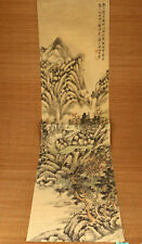 Rare old paper hand painting landscape picture wall decoration