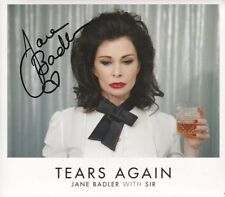 JANE BADLER signed autographed TEARS AGAIN with SIR CD
