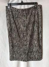 Byron Lars BEAUTY MARK Pencil Skirt Black & White  BUTTON DOWN SZ 10-12