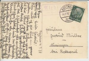 Landpoststempel    Aixheim über Rottweil  1938
