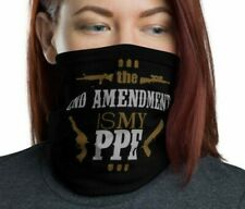 2nd Amendment is my Ppe Face Black Mask & Neck Gaiter - Gun accessory swag