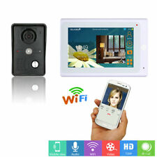 "7""LCD Wireless/Wired Wifi IP Video Door Phone Doorbell Intercom Entry System+APP"