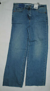 Ladies NEXT Blue Wideleg Ankle Jeans Size 10L RRP £28 Brand New