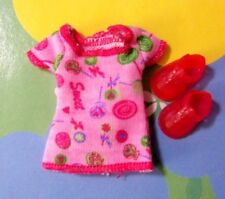 Kelly Chelsea Doll Clothes *Pink Sweet Lollipop Cotton Dress & Shoes*
