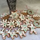 Poly Dough Iced Gingerbread Christmas Cookie Decoration Tree Man Gisela Graham