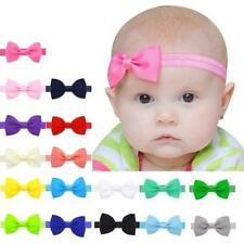 10Pcs Baby Girls Kids Infant Bowknot Hairband Mini Elastic Hair Accessories