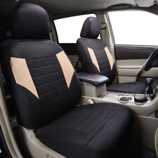 Universal Car Seat Covers 2 Front Black Beige Airbag For SUV VAN TRUCK SEDAN