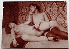 Original antique erotic  photo of two nude women - lesbian interest