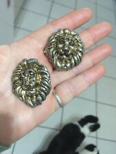 Huge Vintage Lion Head Earrings So Kitsch