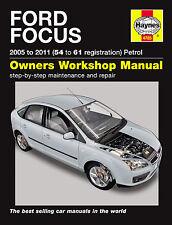 Ford Focus 1.4 1.6 1.8 2.0 Gasolina 05-11 54-61 Reg Haynes Manual de Taller reparación