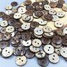 100 Stück Kokosnuss Knopf / Knöpfe Nähen Scrapbooking Dekoration 13mm