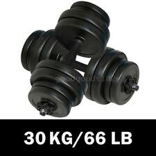 2pc Dumbbell Weight Set 30kg Home Gym Fitness Barbell Exercise Adjustable Plate