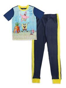Spongebob Boys 2 Piece Pajama Set Size 8