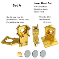 "CO2 Laser Head Holder Mount K40 5030 6040 + Lens 12mm FL 2""+ Mo Si Mirror 20mm"