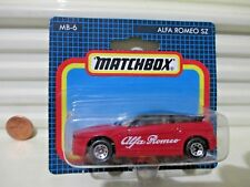 Matchbox 1991 MB6 Red + Black ALFA ROMEO SZ Car New in Near Mint Bubble Package