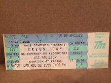 Greenday Concert Ticket Stub 11-22-1995