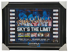 Sydney FC Signed Team Litho Framed 2017 A-League Champions Sky's the Limit + COA