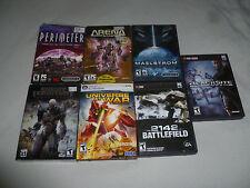 BOXED COMPUTER PC GAME LOT MAELSTROM 2142 BATTLEFIELD ARENA WARS PERIMETER >>