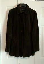 MODA International-Leather Suede Car Coat* Looks New -Tall size