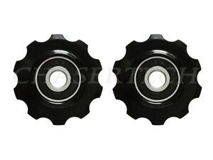 MTB Road Bike Rear Derailleur Jockey Wheel Pulley 10T Black
