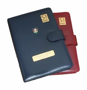Royal Welsh 5 Year Diary Planner A5 Burgundy & Blue Personalised ME55
