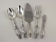 Gorham Whiting Lily Sterling Silver Serving Set - 5 Pieces - No Monograms