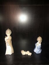 Lladro 5657 Mini Nativity Sagrada Familia Holy Family Christmas Ornaments w Box