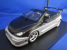 NOREV Peugeot  206  CC  Parotech  (silber-metallic/matt-schwarz) 1:18  OVP !!!