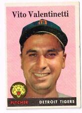 1958 Topps   VITO VALENTINETTI   DETROIT TIGERS  # 463  Baseball Card  VG ++