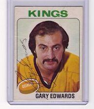 GARY EDWARDS SIGNED 1975-76 O-PEE-CHEE OPC HOCKEY AUTOGRAPH CARD #105 RARE AUTO