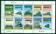 GRENADA*1989* 3 M/Sheets (each 10 stamps)*MNH** Railways - Mi.No 1931-60KB