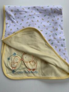 Carters I love my mommy Reversible yellow boy girl blanket Chick Duck Baby Lovey