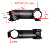 3K Carbon Aluminum MTB Road Bike Stem 17° Bicycle Handlebar Stem 31.8*70-110mm