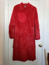 Women's Rosleen Size M Medium Full Length Genuine Fur Coat Collared Soft WOW
