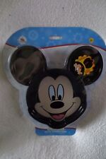 Disney Mickey Mouse Club House Plate Detachable Ears Snack Dinner Plate New